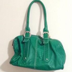 Charming Charlie Purse Green Reptile Print Bag